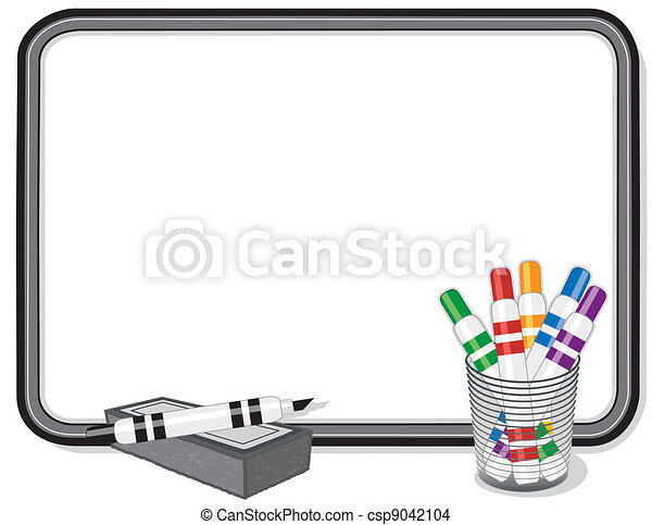whiteboard marker pens eraser whiteboard with multicolor marker rh canstockphoto com whiteboard clipart black and white whiteboard clip art free