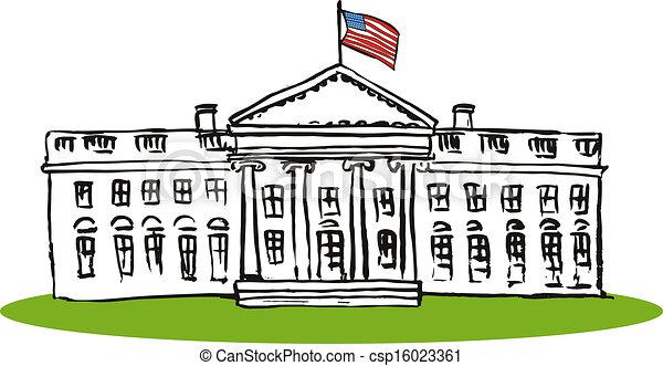 whitehouse retro illustration of the usa white house done in retro rh canstockphoto com white house clipart black and white white house clipart black and white