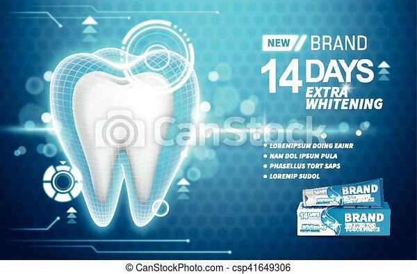 whitening toothpaste ad - csp41649306