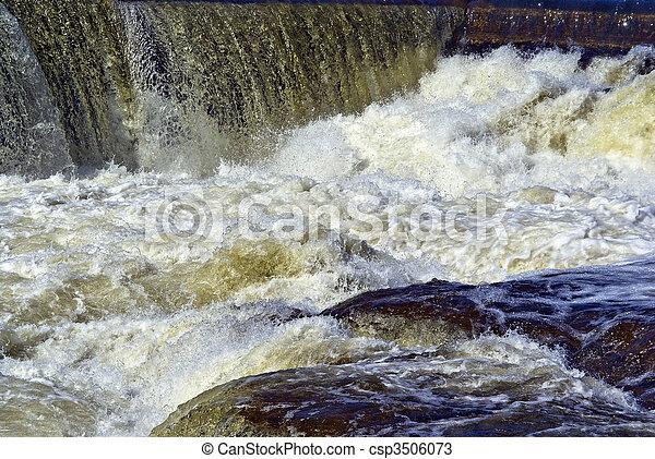 whitewater , καταρράκτης , άσπρο , καλύπτω  - csp3506073