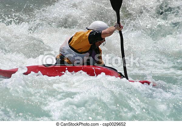 whitewater , kayaker  - csp0029652