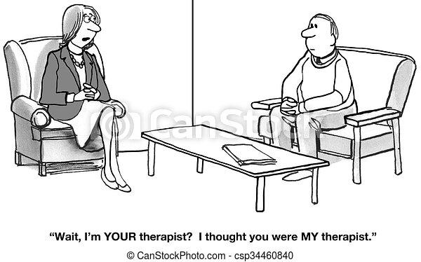Who Is The Therapist Cartoon About Two People Each Thinks The