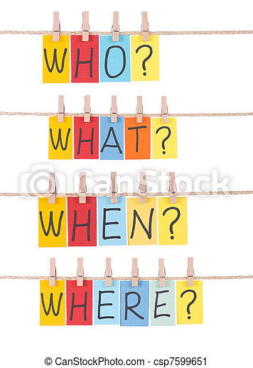 Who, what, when, where - csp7599651