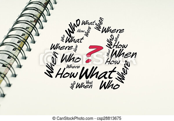 Who What When Where text - Business Concept - csp28813675