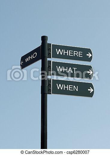 who where when where sign - csp6280007