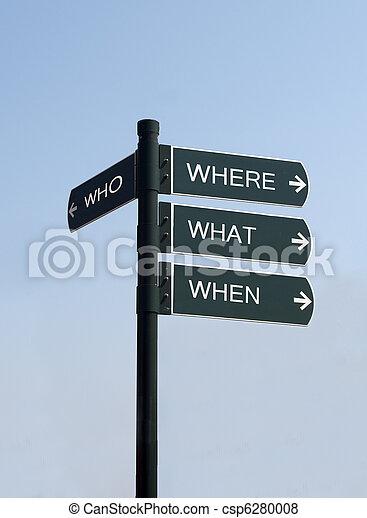 who where when where sign - csp6280008