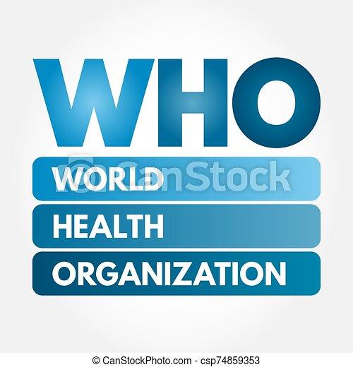 Who - world health organization acronym, concept background.