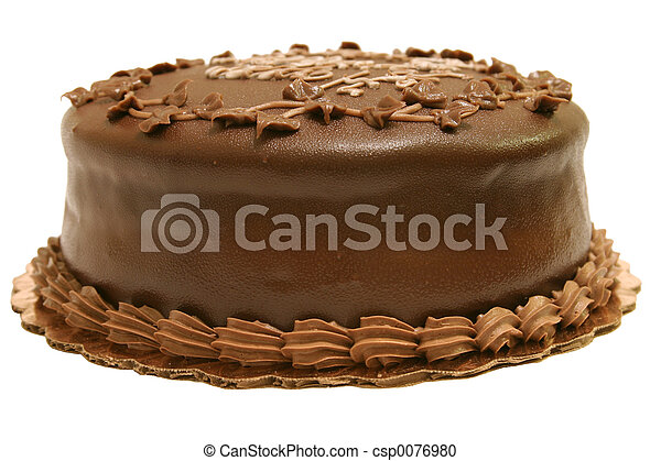 Whole Chocolate Cake - csp0076980