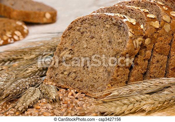 Whole-grain bread and cereals - csp3427156
