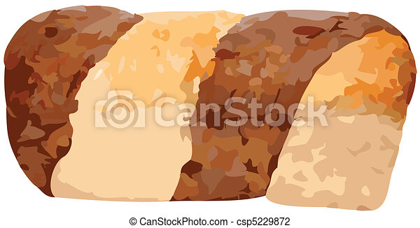 Whole Marble Rye Loaf Vector Illust - csp5229872