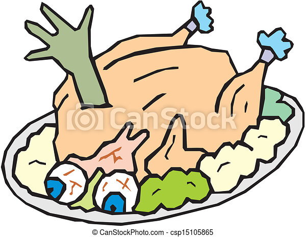whole roast turkey clip art vector search drawings and graphics rh canstockphoto com cooked turkey clipart free