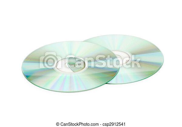Dos discos de CD aislados en la pista - csp2912541