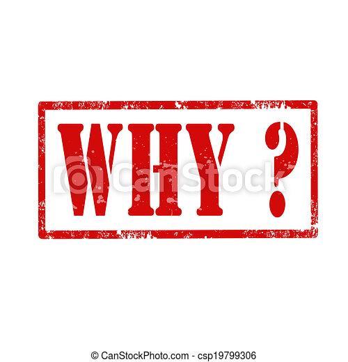 Why?-stamp - csp19799306