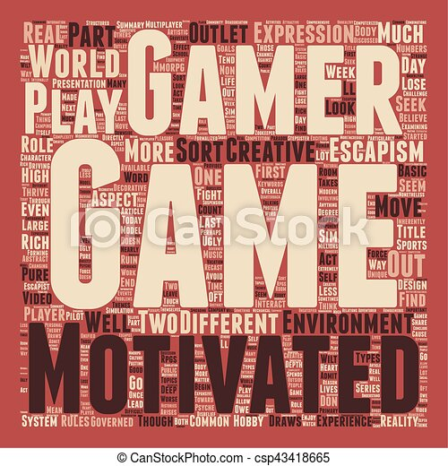 Why We Play Games Part 2 text background wordcloud concept - csp43418665
