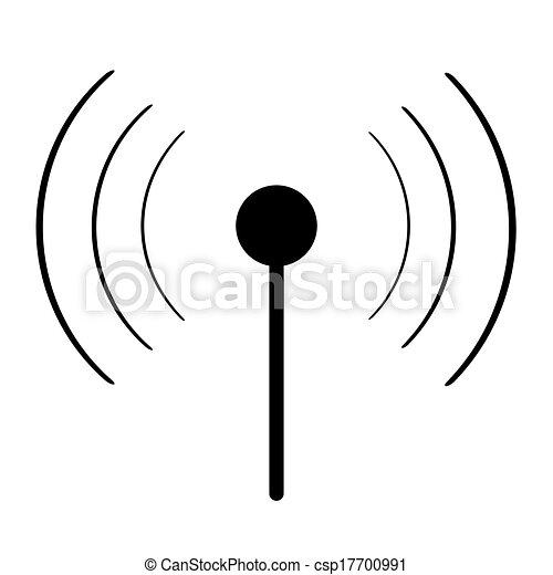 wi-fi, noir, signe - csp17700991