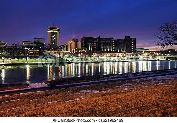 Wichita, Kansas - downtown - csp21962469