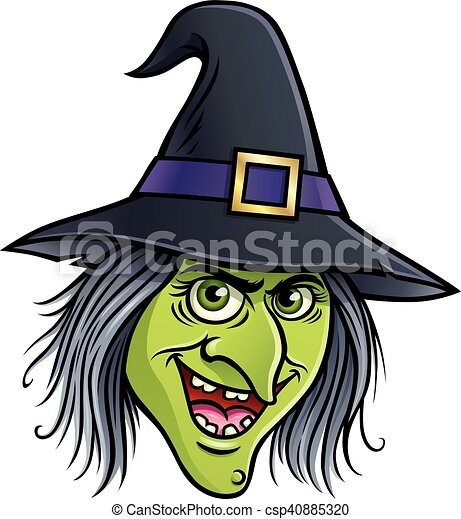 Wicked Witch Face Cartoon Illustration Of A Smiling Wicked Witch Face Character
