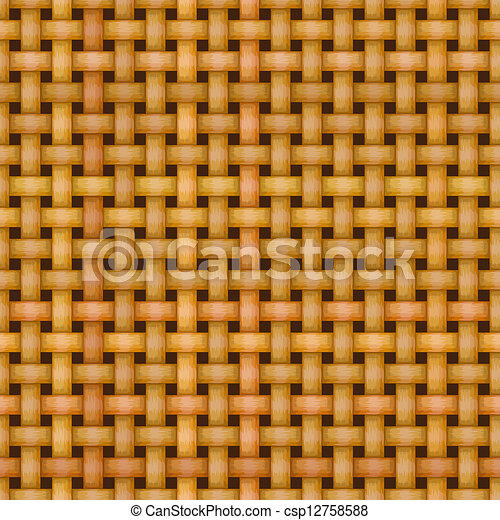wicker basket weaving pattern seamless texture - csp12758588