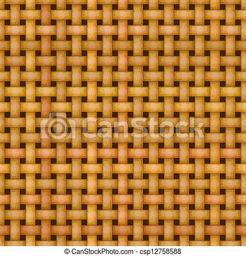 wicker basket weaving pattern seamless texture - csp12758588
