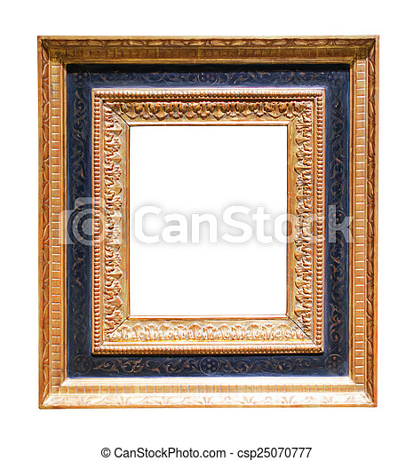 Wide picture gilded frame . Wide picture gilded frame. isolated on ...