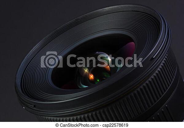 wideangle, bello, lens. - csp22578619