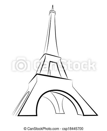 wieża, eiffel - csp18445700