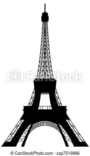 wieża, eiffel, sylwetka - csp7519966