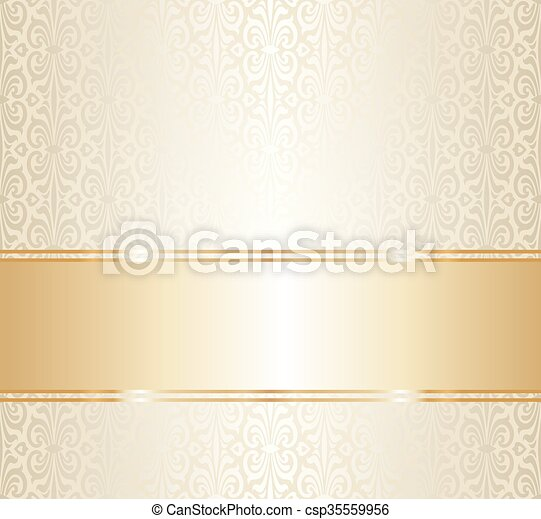 Wiederholend, gold, tapete, wedding. Wiederholend, gold,... Clipart ...