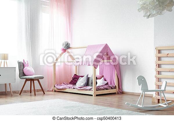 Roze Slaapkamer Stoel : Wiegen meiden paarde slaapkamer roze paarde met de hand