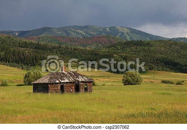 wiejski, kolorado, stodoła - csp2307062