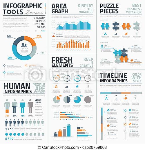 wielki, infographic, vec, zbiór - csp20759863