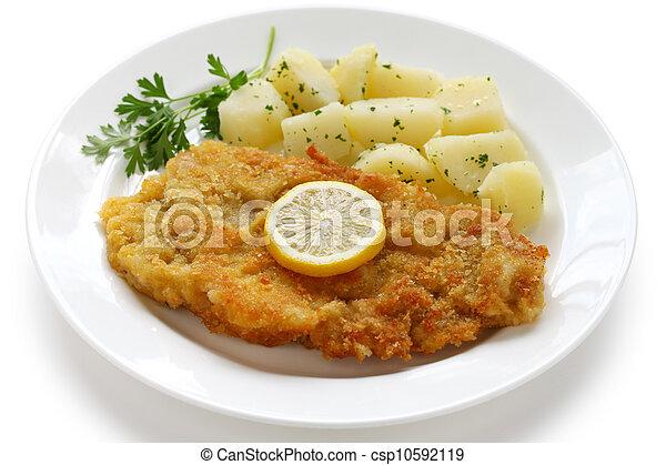 wiener schnitzel, veal cutlet - csp10592119