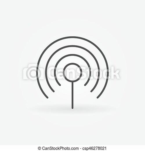 Wifi Concept Linear Icon