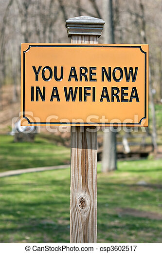 WIFI Hotspot Sign - csp3602517
