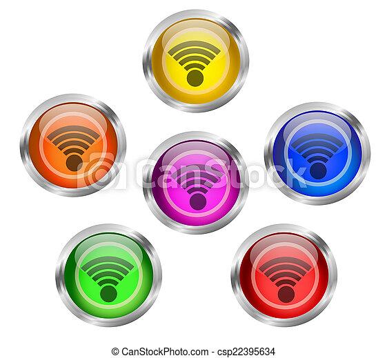 WIFI Icon Button - csp22395634