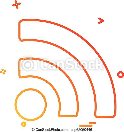 Wifi icon design vector - csp62050446