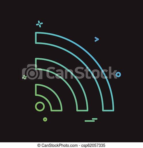 Wifi icon design vector - csp62057335