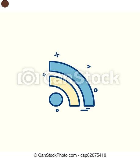 Wifi icon design vector - csp62075410