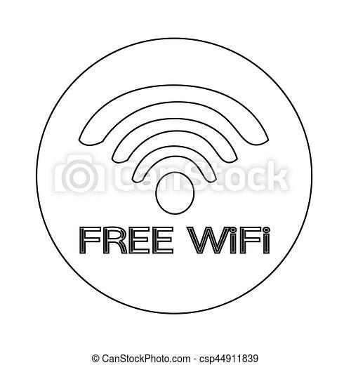 wifi icon - csp44911839