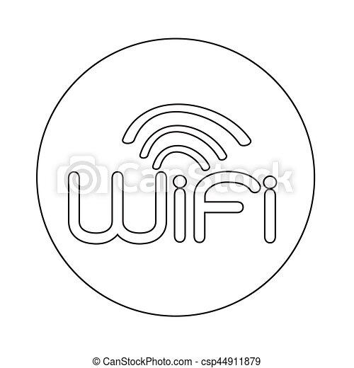 wifi icon - csp44911879