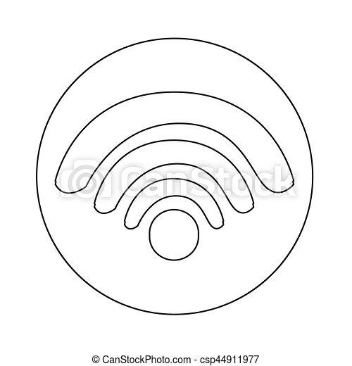 wifi icon - csp44911977