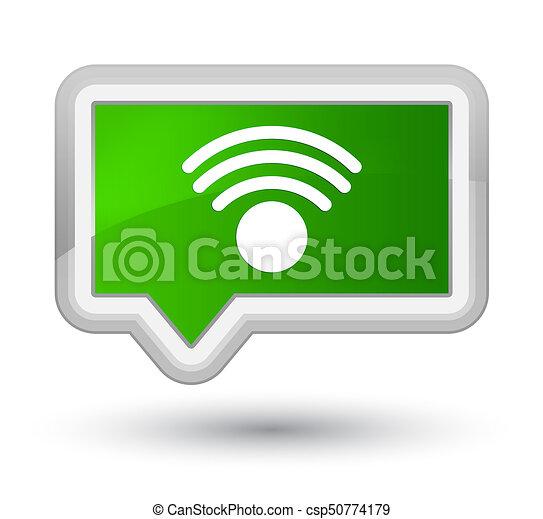 Wifi icon prime green banner button - csp50774179