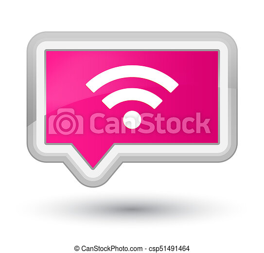 Wifi icon prime pink banner button - csp51491464