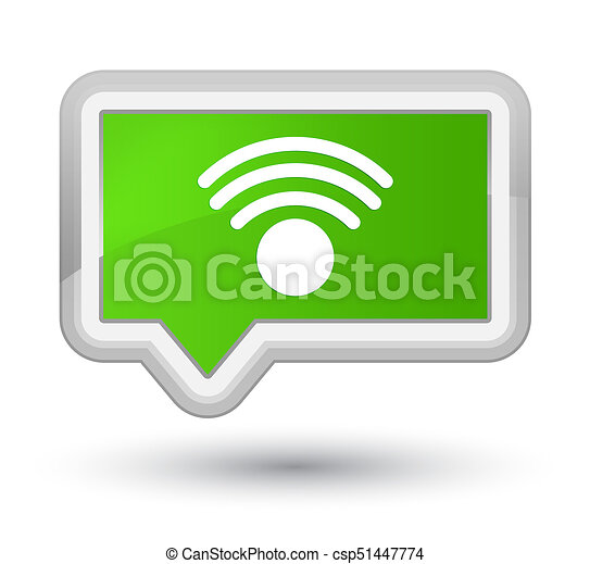 Wifi icon prime soft green banner button - csp51447774