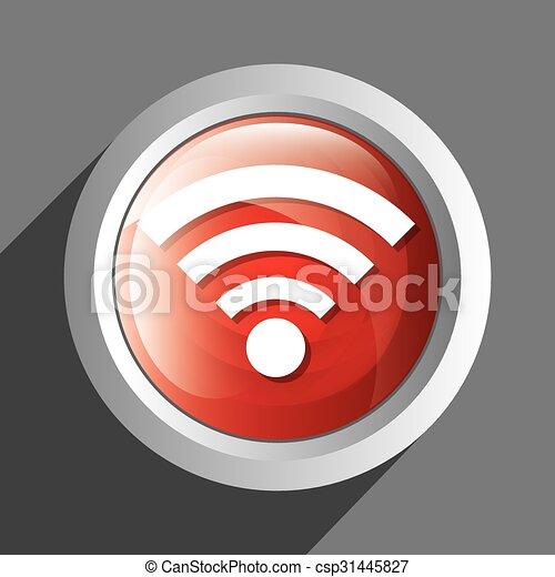 Wifi icon symbol design - csp31445827