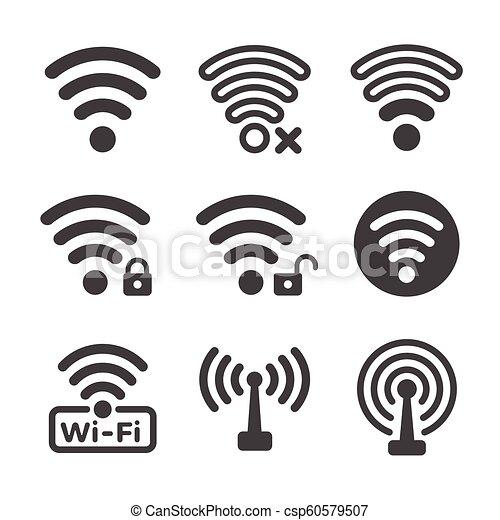 Wifi Icon Wifi And Wireless Icon Set