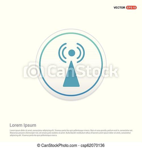 Wifi icon - white circle button - csp62070136
