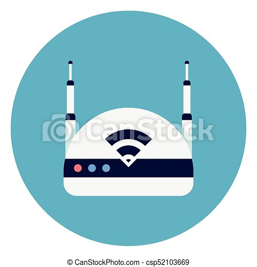 wifi internet router icon on round blue background flat clip art rh canstockphoto com intranet clip art intranet clip art