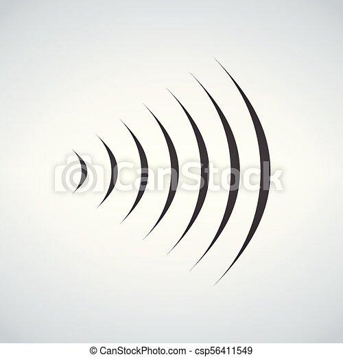 Wifi Sound Signal Connection Sound Radio Wave Logo Symbol Vector