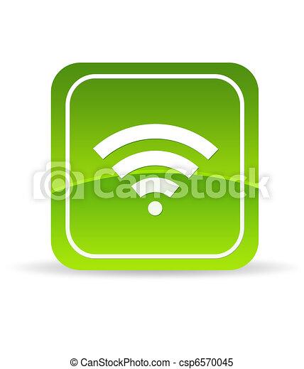 Un icono de Wifi verde - csp6570045
